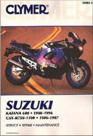 Clymer Suzuki Katana 600 1988-1996 GSX-R750-1100 1986-1987 Repair Manual