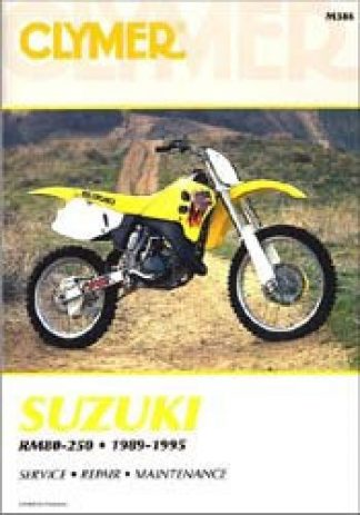 Clymer Suzuki RM80 RM125 RM250 RMX250 1989-1995 Repair Manual