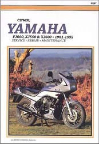 Clymer Yamaha XJ550 XJ600 FJ600 1981-1992 Repair Manual