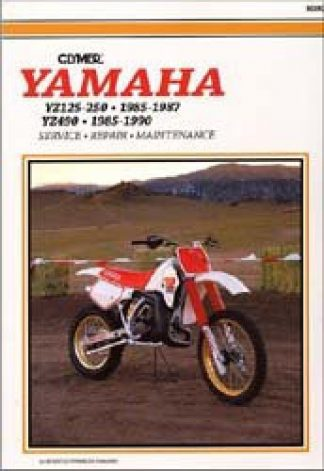 Clymer Yamaha YZ125 YZ250 1985-1987 / YZ490 1985-1990 Repair Manual
