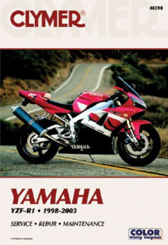 1998-2003 Yamaha YZF1000R R1 Motorcycle Repair Manual by Clymer