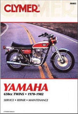 1970-1982 Yamaha XS1 XS2 TX650 XS650 Clymer Repair Manual