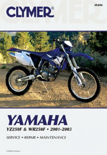 clymer yamaha yz wr250f 2001 2003 motorcycle repair manual. Black Bedroom Furniture Sets. Home Design Ideas