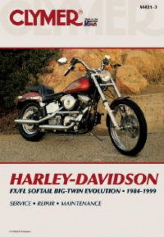 1984-1999 Harley-Davidson FX FL Softail Repair Manual by Clymer