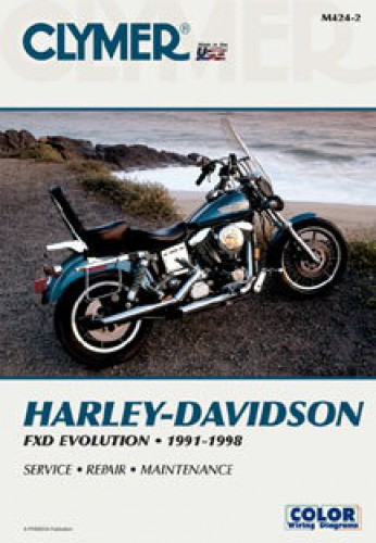 1991-1998 Harley-Davidson FXD Evolution Dyna Glide Clymer Motorcycle on