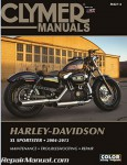 2004-2013 Harley Davidson XL883 XL1200 Sportster Clymer Repair Manual