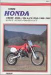 Used Clymer Honda CR80R 1989-96 CR125R 1989-1991 Repair Manual