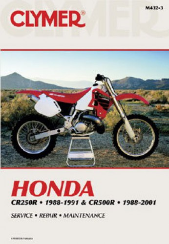 Clymer Honda CR250R CR500R 1988-2001 Repair Manual