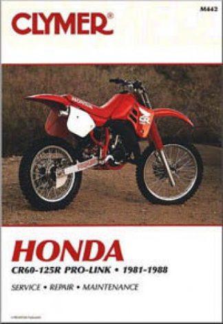 Clymer Honda CR60-125R Pro-Link 1982-1988 Repair Manual