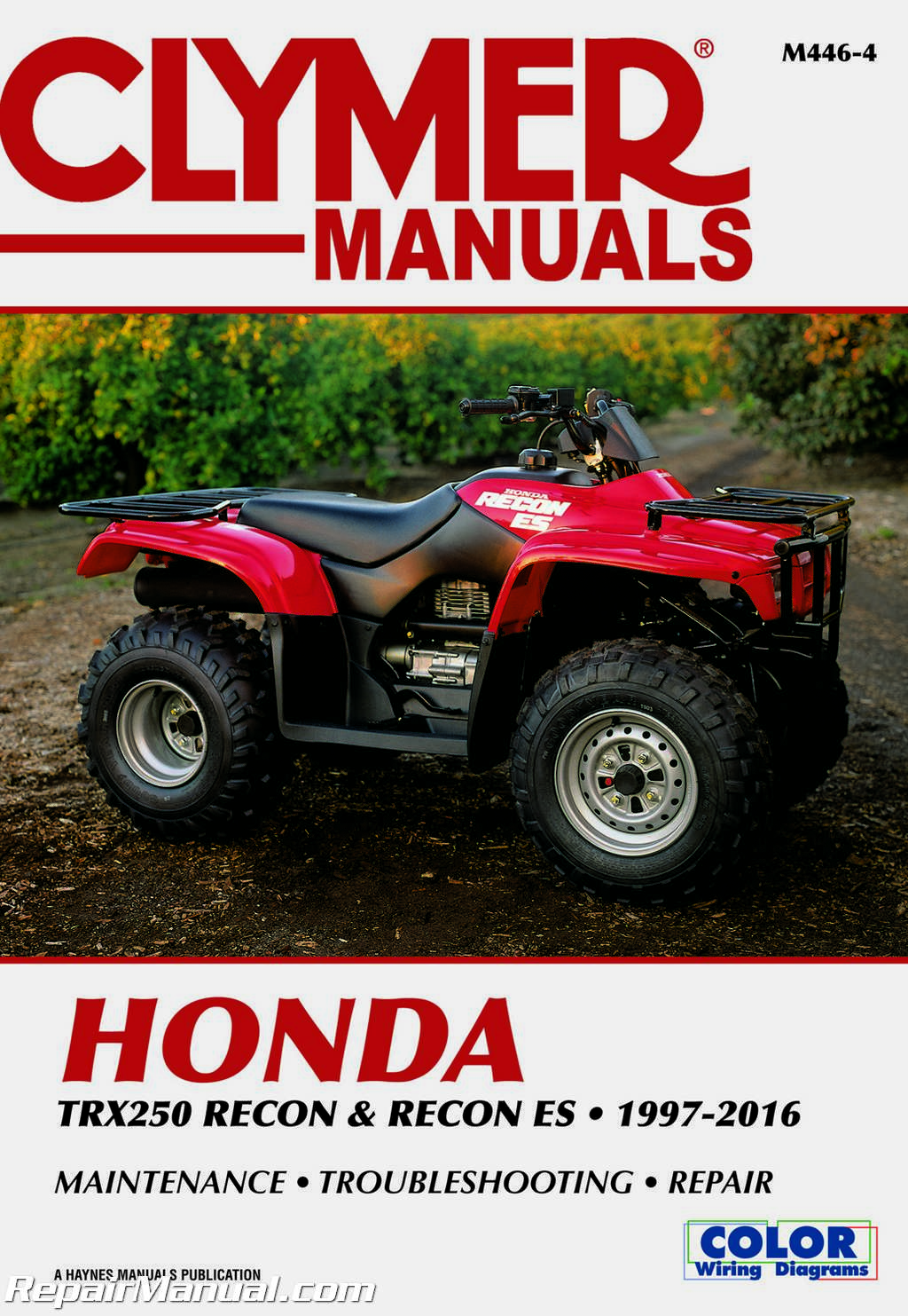 1997 2016 honda trx250 recon es atv repair manual by clymer m446 4 rh ebay com 2013 Honda 250 ATV ATV Honda TRX 250 Recon