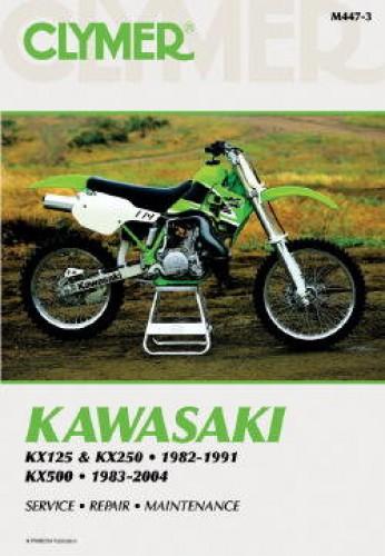 kawasaki kx125 kx250 1982 1991 kx500 1983 2004 clymer motorcycle rh repairmanual com 2005 kx 125 repair manual 2001 kx 125 repair manual