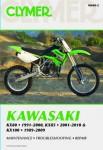 Clymer Kawasaki KX80 KX85 KX100 1989-2010 Repair Manual