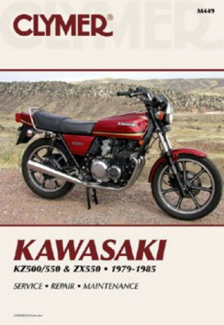 1979-1985 Kawasaki KZ500 550 ZX550 Repair Manual by Clymer