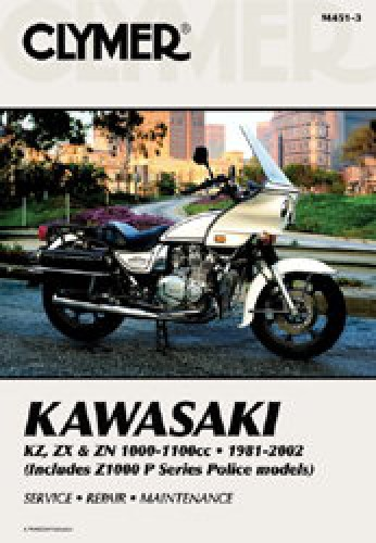 1981-2002 Kawasaki KZ1000 Z1000 Z1100 Police Repair Manual by Clymer