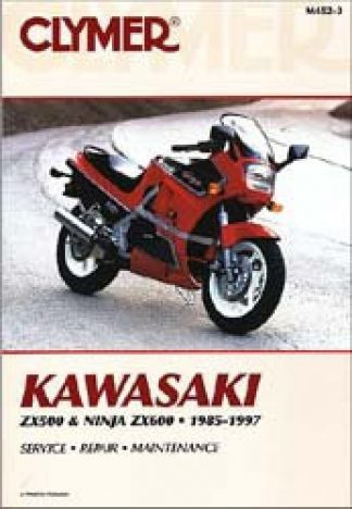 1985-1997 Kawasaki ZX500 Ninja ZX600 Repair Manual by Clymer