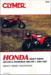 1984-1987 Honda ATC250 Fourtrax 200 250 Repair Manual by Clymer