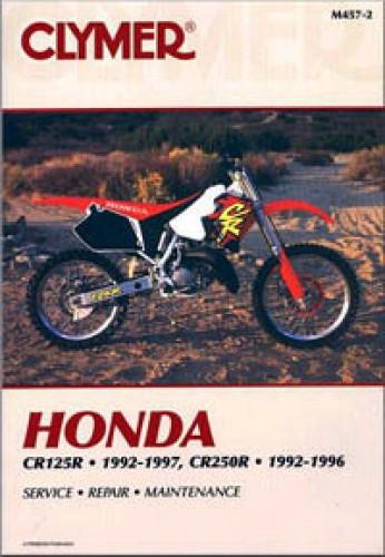 clymer honda cr125r 1992 1997 cr250 1992 1996 motorcycle repair manual rh repairmanual com honda cr250 manual 2002 2001 honda cr250 manual