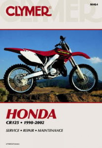 clymer honda cr125 1998 2002 motorcycle repair manual rh repairmanual com 1983 Honda CR125 1988 honda cr125r service manual