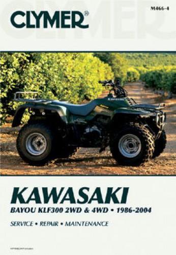 1986-2004 Kawasaki KLF300 Bayou Repair Manual by Clymer