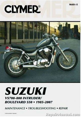 Clymer Suzuki VS700 VS800 Intruder Boulevard S50 1985-2009 Repair Manual