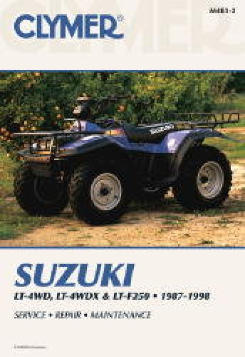 suzuki king quad quadrunner 250 280 lt 4wd lt f4wdx lt f250 1987 clymer suzuki king quad quadrunner 250 atv 1987 1998 repair manual