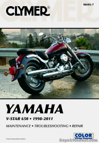 1998-2011 Yamaha XVS650 V-Star Motorcycle Repair Manual Clymer