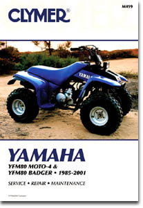 clymer yamaha yfm80 badger atv 1985 1988 1992 2001 repair. Black Bedroom Furniture Sets. Home Design Ideas