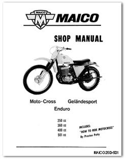 1968 1969 maico motorcycle owners service manual