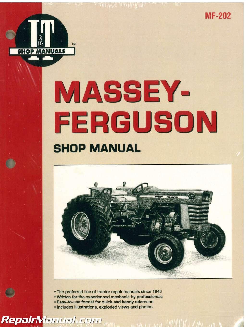 MASSEY-FERGUSON MF175 MF180 MF205 MF210 MF220 MF2675 MF2705 MF2745 MF2775  MF2805 Service Manual