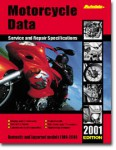 Autodata Motorcycle Repair and Service Specifications Manual 2001