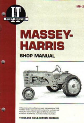 Massey-Harris Tractor Repair Manual 101 101 Super 102 Jr 102 Sr 20 201 202 203 22 30 44 4cyl Diesel 44 4cylinder 44 6 Cylinder 55 55 Diesel 81 82 and Pony
