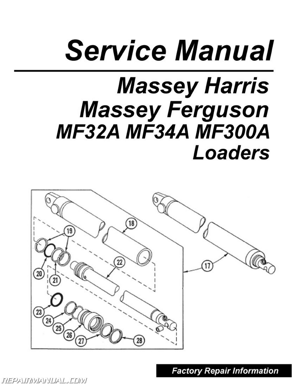 Massey Ferguson 32 Loader Parts : Massey ferguson model mf a loader service manual
