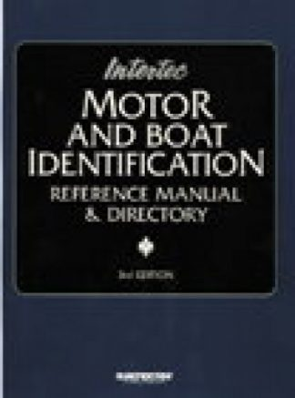 Motor and Boat Identification Reference Manual Directory Coverage Through 1996