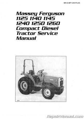 [ZSVE_7041]  Massey Ferguson 1125 1140 1145 1240 1250 1260 Compact Diesel Tractor  Service Manual | 1250 Ferguson Tractor Wiring Diagram |  | Repair Manuals Online