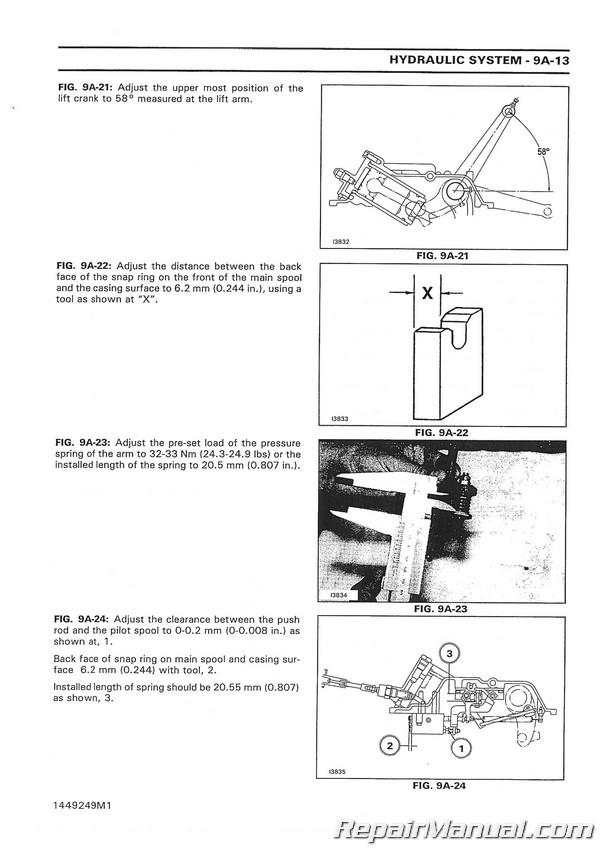 Massey Ferguson 1125 1140 1145 1240 1250 1260 Compact Diesel Tractor  Service Manual