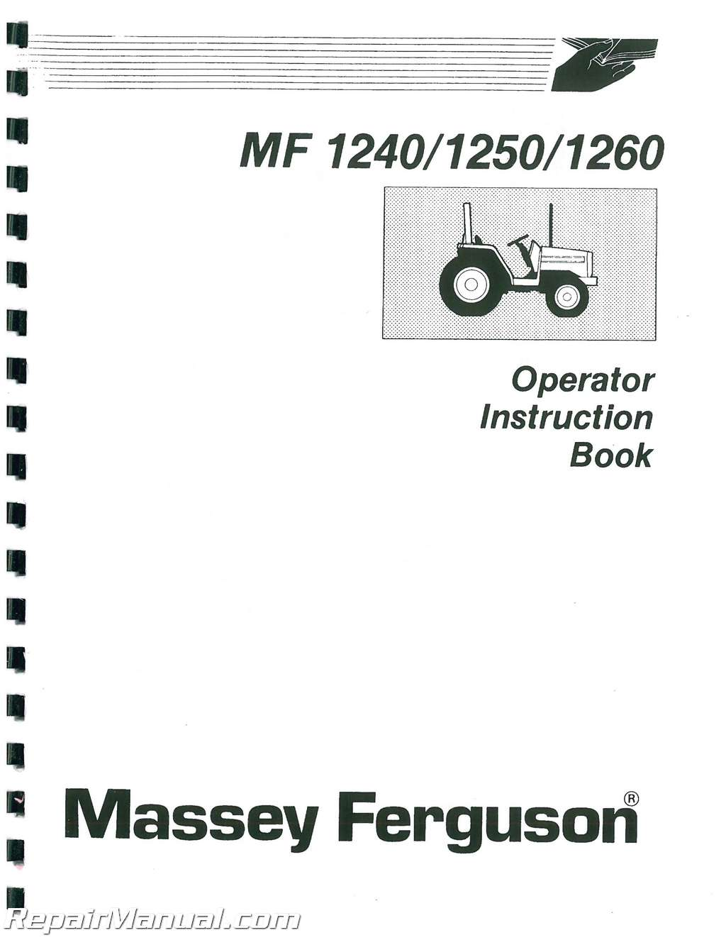 massey ferguson 1240 compact tractor operators manual rh repairmanual com massey ferguson 1540 manual massey ferguson 1240 operators manual
