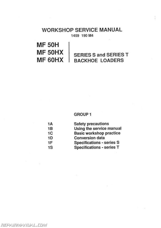 massey ferguson 50 hx owners manual