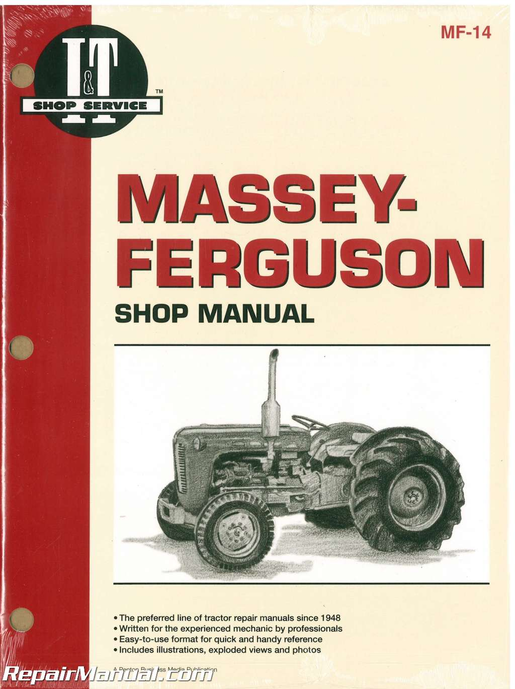 Massey-Ferguson F40, MF202, MF204, MF35, MF35 Diesel, MF50, MH50, MHF202,  TO35, TO35 Diesel Tractor Workshop Manual