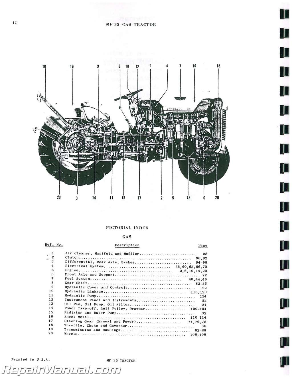 Massey Ferguson 180 Parts Diagram : Massey ferguson mf gas diesel tractor parts manual