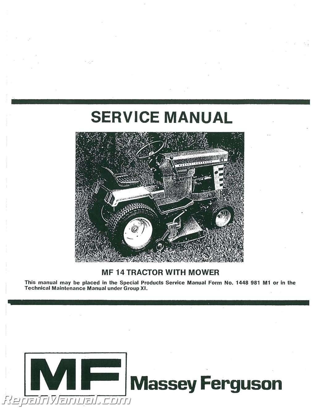 Massey Ferguson 1560 Tractor Repair Manual