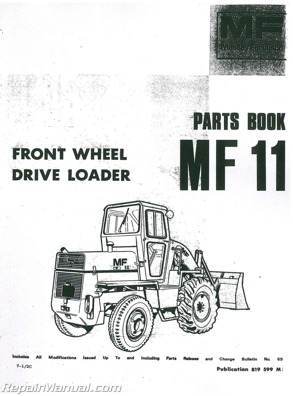 massey ferguson mf11 front end loader parts manual rh repairmanual com caterpillar 920 wheel loader parts manual pdf Wheel Loader Brake System