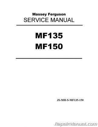 Massey Ferguson Shop Manual MF135 165