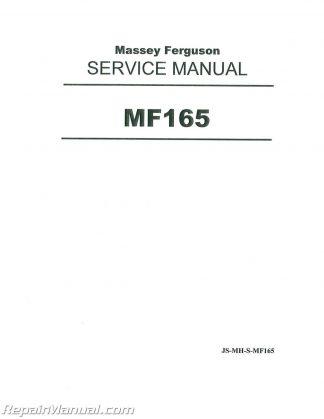 Massey Ferguson MF150 MF165 MF175 MF180 Tractor Service Manual