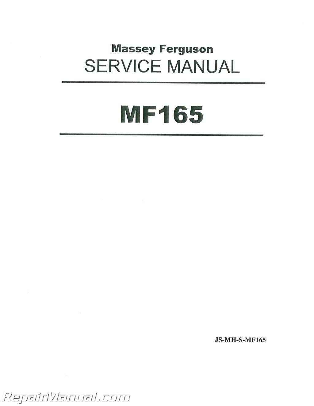 massey ferguson mf150 mf165 mf175 mf180 service manual rh repairmanual com MF Rake 400 massey ferguson 175 workshop manual