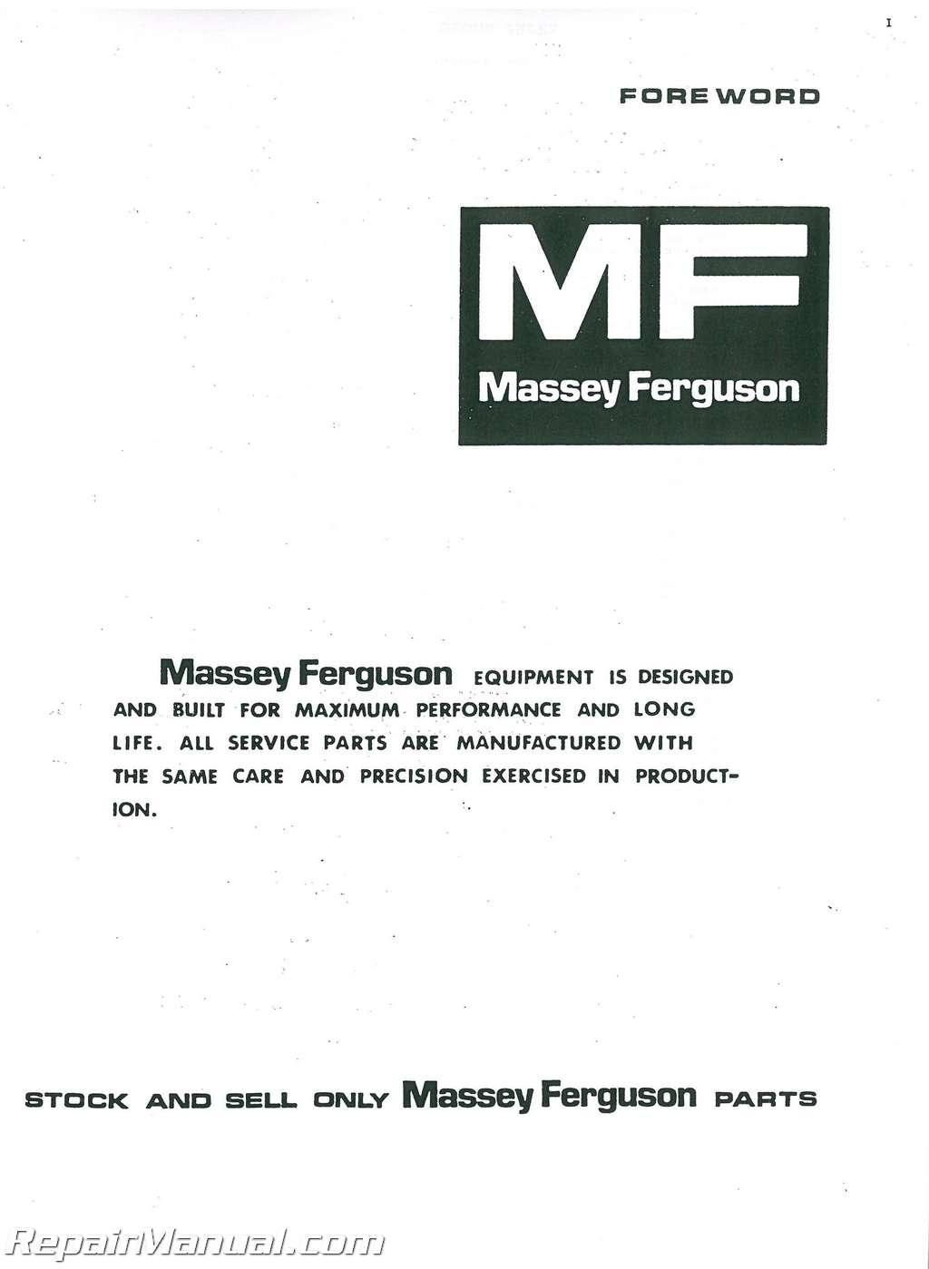 Massey Ferguson MF165 Gas and Diesel Parts Manual_001