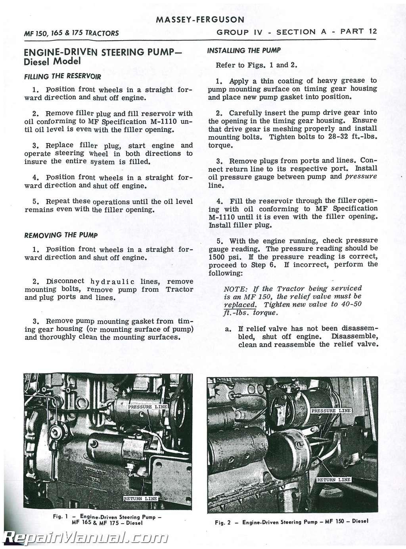 massey ferguson mf175 mf282 service manual rh repairmanual com Diesels Tractors MF 175 Diesels Tractors MF 175