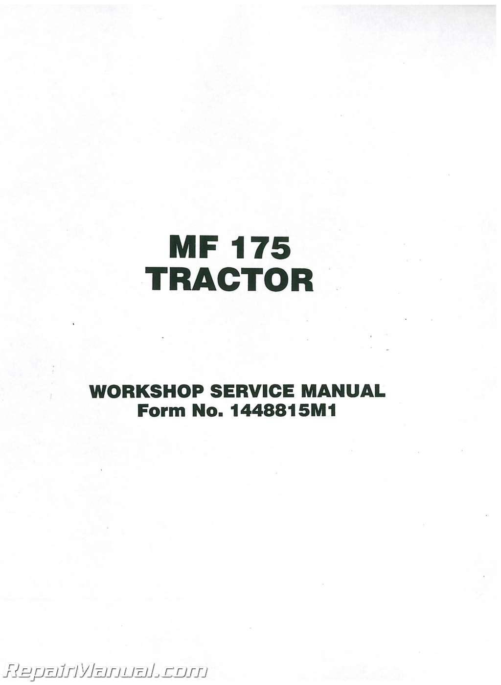 massey ferguson mf175 mf282 service manual rh repairmanual com massey ferguson 175 repair manual pdf massey ferguson 175 repair manual pdf