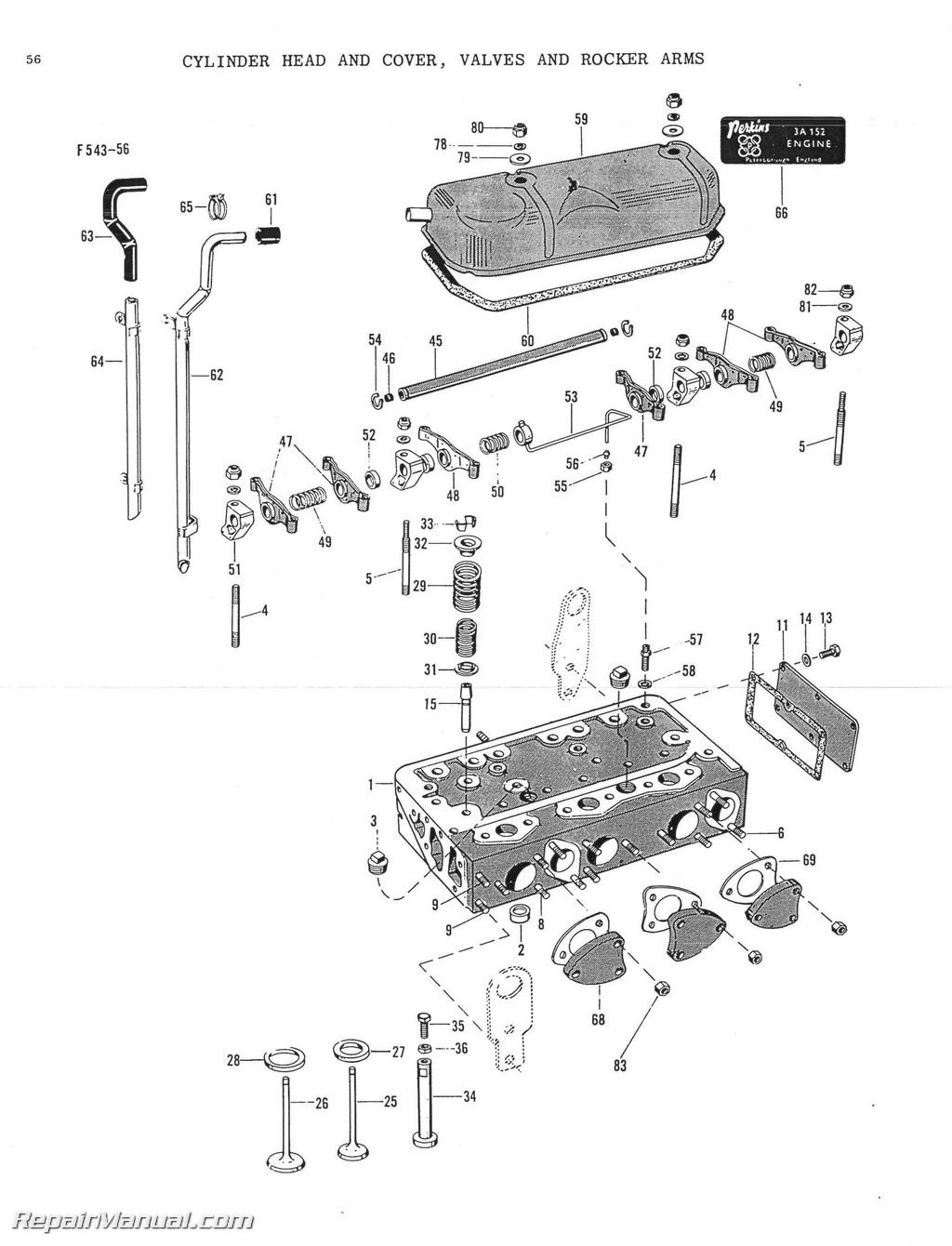 Massey Ferguson Repair Parts : Massey ferguson mf tractor parts manual