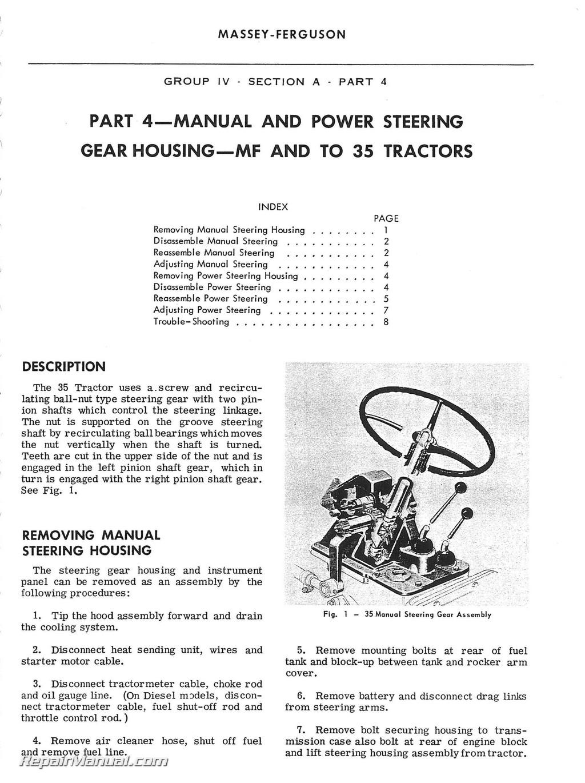 Massey Ferguson Mf203 Mf205 Service Manual