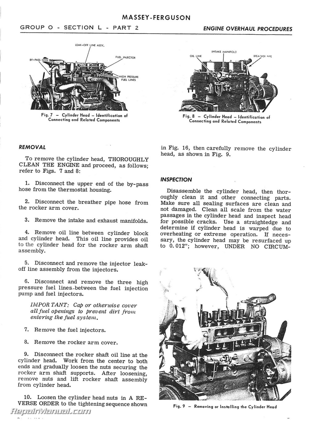 Massey Ferguson Mf203 Mf205 Service Manual